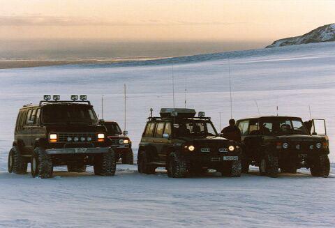 «Джип-тур на леднике»  (Исландия)